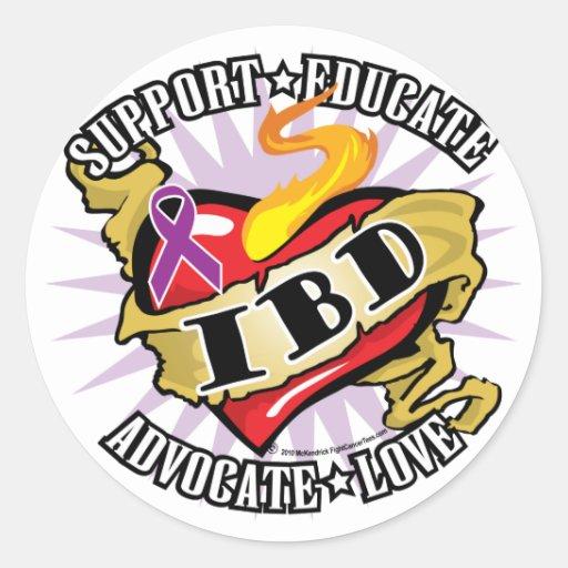 IBD Classic Heart Classic Round Sticker