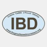 IBD - colitis de Crohns - pegatina oval -