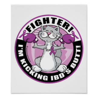 IBD Fighter Cat Posters