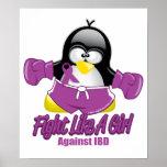 IBD Fighting Penguin Poster