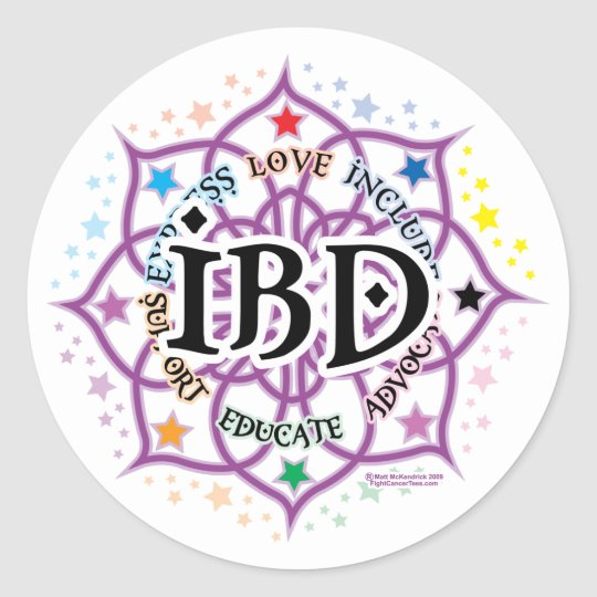 IBD Lotus Classic Round Sticker