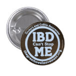 IBD no puede pararme botón Pin Redondo De 1 Pulgada