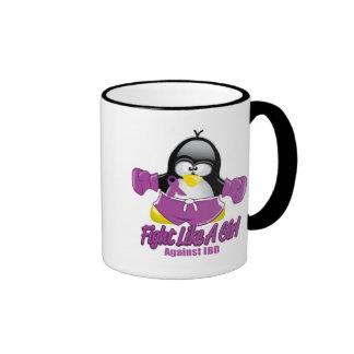 IBD que lucha el pingüino Tazas De Café