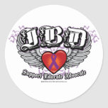 IBD Wings Round Stickers
