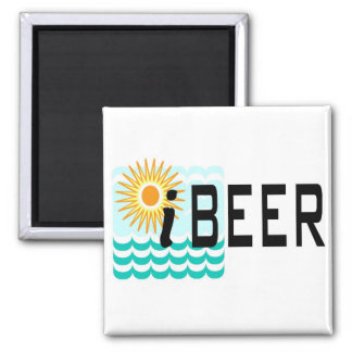 iBEER Funny T-shirt 2 Inch Square Magnet