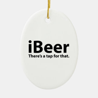 iBeer There's A Tap For That Christmas Ornament