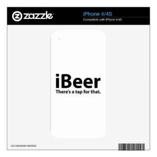 iBeer There's A Tap For That Decals For iPhone 4S