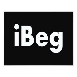 iBeg 4.25x5.5 Paper Invitation Card