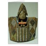 Ibeji figure, Yoruba people, Nigeria Card