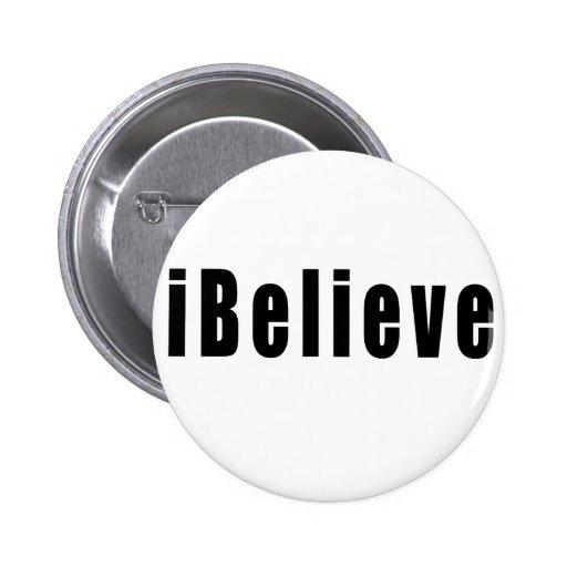 iBelieve 2 Inch Round Button