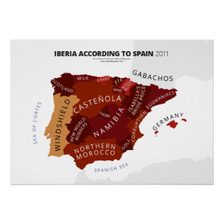 Iberia According to Spain Posters