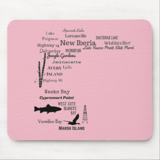 Iberia Parish Cities and Places Mouse Pad