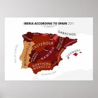 Iberia según España Póster