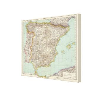 Iberian Peninsula Canvas Print