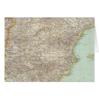 Iberian Peninsula Greeting Card