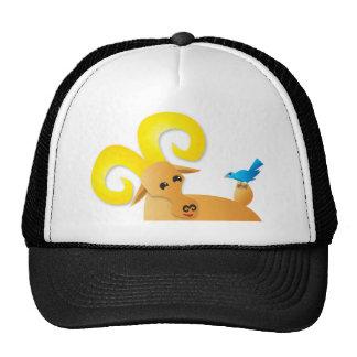 Ibex ram and bird trucker hat