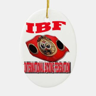 IBF Championship Boxing Belt Ceramic Ornament
