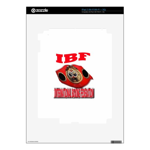 IBF Championship Boxing Belt Decals For iPad 2
