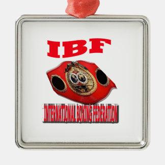 IBF Championship Boxing Belt Metal Ornament