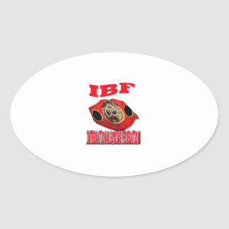IBF Championship Boxing Belt Oval Sticker