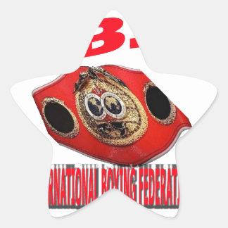 IBF Championship Boxing Belt Star Sticker