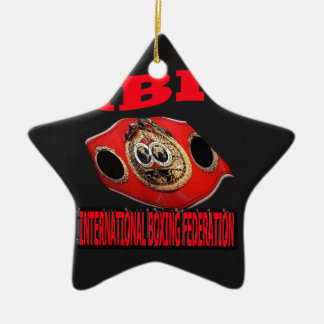 IBF Championship Boxing Belt With Background Ceramic Ornament