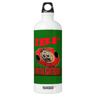 IBF Championship Boxing Belt With Background Green Aluminum Water Bottle