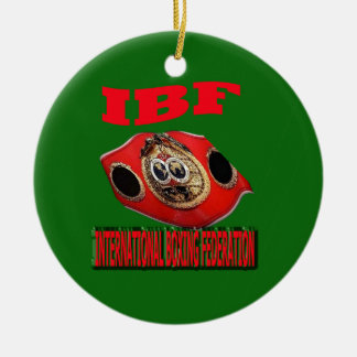 IBF Championship Boxing Belt With Background Green Ceramic Ornament