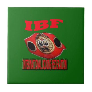 IBF Championship Boxing Belt With Background Green Ceramic Tile