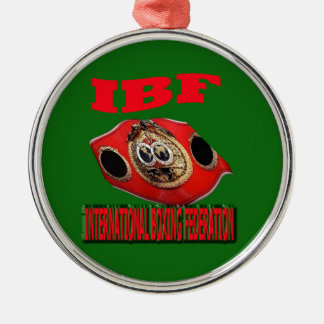 IBF Championship Boxing Belt With Background Green Metal Ornament