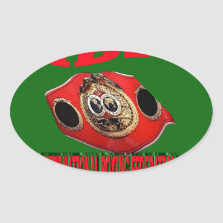 IBF Championship Boxing Belt With Background Green Oval Sticker