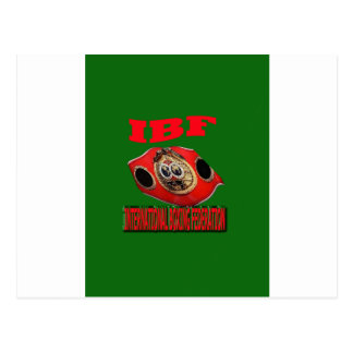 IBF Championship Boxing Belt With Background Green Postcard