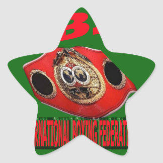 IBF Championship Boxing Belt With Background Green Star Sticker
