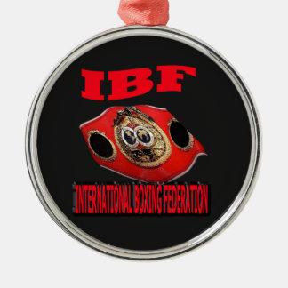 IBF Championship Boxing Belt With Background Metal Ornament