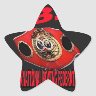 IBF Championship Boxing Belt With Background Star Sticker