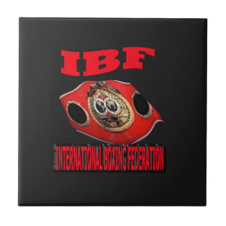 IBF Championship Boxing Belt With Background Tile