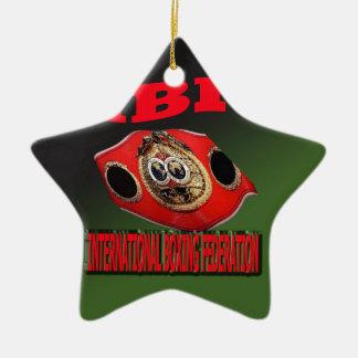IBF Championship Boxing Belt With Etnic Background Ceramic Ornament