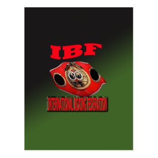 IBF Championship Boxing Belt With Etnic Background Postcard