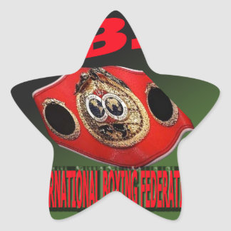 IBF Championship Boxing Belt With Etnic Background Star Sticker