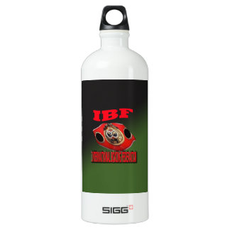 IBF Championship Boxing Belt With Etnic Background Water Bottle