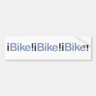 iBike! bumper sticker