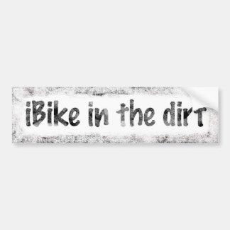 iBike In The Dirt Bumper Sticker