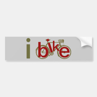ibike ~ love cycling bumper sticker