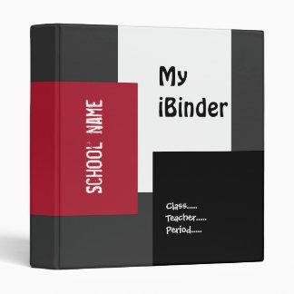 iBinder 9 en gris, negro, rojo y blanco