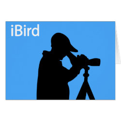 iBird Blue Greeting Card