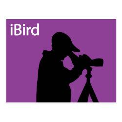 Postcard with iBird Purple design