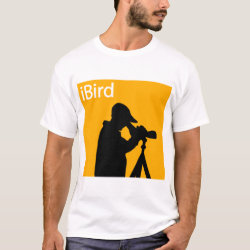 Men's Basic T-Shirt with iBird Orange design