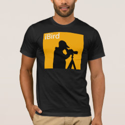 Men's Basic American Apparel T-Shirt with iBird Orange design