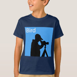Kids' Hanes TAGLESS® T-Shirt with iBird Blue design