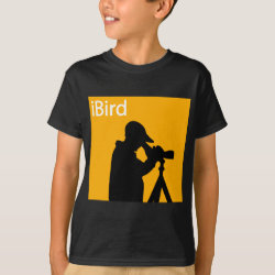 Kids' Hanes TAGLESS® T-Shirt with iBird Orange design